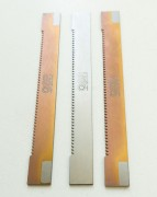Hack saw blades for plastics; coating TiCN – MP (it means coating Red Dragon)