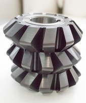 HSS double angle milling cutters, symmetrical with radius on the teeth