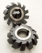 Symmetrical double angle milling cutter made of HSS steel