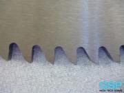 Forma de diente de fricción con ángulo frontal cero