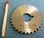Hoja de sierra circular HSS 34 x1,6 x 10 30B-2