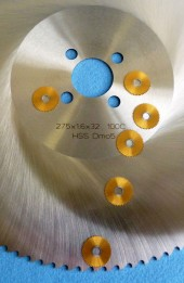 슬리팅 톱날과 비교한 HSS 절단 톱날 20x0.5x5 TiN-11