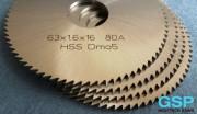 Λεπίδα φρέζας ελικοειδών σχισμών HSS 63x1,6x16 80A-3